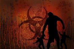 Biohazard roestige zombieën Stock Afbeelding