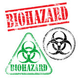Biohazard Rubber Stamps Stock Photography
