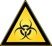 Biohazard Sign. Biohazard Triangle Sign for Warning Royalty Free Stock Image