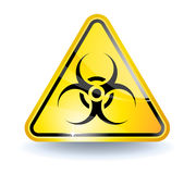 Biohazard sign. With glossy yellow surface vector illustration