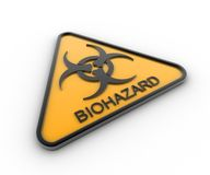 Biohazard Sign. 3D render of a biohazard sign Stock Photo