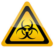Biohazard sign. Illustration of biohazard sign isolated on white Royalty Free Stock Photo