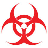 Biohazard sign. Format, for health industry concepts Royalty Free Stock Photo