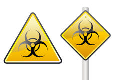 Biohazard sign. Two biohazard sign on the white background Stock Images