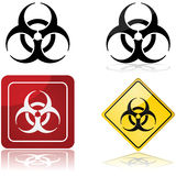 Biohazard sign. Icon set showing a biohazard sign in four different styles royalty free illustration
