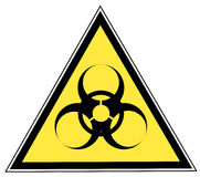 Biohazard sign. Biohazard warning on yellow triangle sign - vector Stock Photos