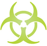 Biohazard sign Royalty Free Stock Photography