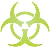 Biohazard sign. Warning alert for hazardous bio materials Royalty Free Stock Photography