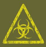 Biohazard sign. Vector illustration background Royalty Free Stock Images