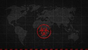 Biohazard sign danger global catastrophe vector illustration