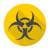 Biohazard sign icon with long shadow Royalty Free Stock Photos