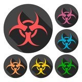 Biohazard sign icon Royalty Free Stock Photography