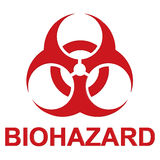Biohazard sign. An illustration of a red biohazard sign royalty free illustration