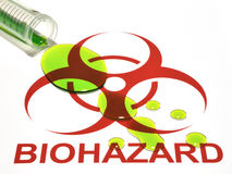 Biohazard Sign & Spill. Conceptualization of a biological hazard Royalty Free Stock Photography
