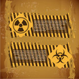 Biohazard signs. Over vintage background vector illustration Royalty Free Stock Photography