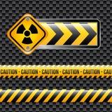 Biohazard signs. Over black background vector illustration vector illustration