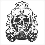 Biohazard - skull mask, virus infection Royalty Free Stock Photos