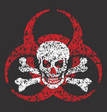 Biohazard skull symbol Royalty Free Stock Photo