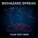 Biohazard spread Stock Images