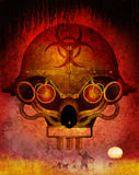 Biohazard 2015. Steam punk styled zombie holocaust skull Stock Illustration
