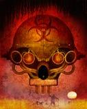 Biohazard 2015. Steam punk styled zombie holocaust skull Royalty Free Stock Image