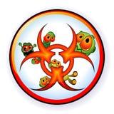 Biohazard sticker Royalty Free Stock Images