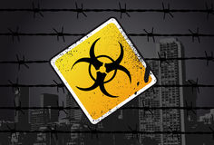 Biohazard Street Sign. Vector Illustration Stock Photos