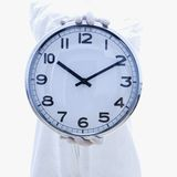 Biohazard suit and clock Royalty Free Stock Photography