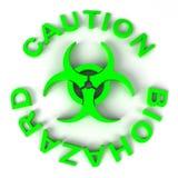Biohazard symbol. An 3d Biohazard sign in green Stock Photography