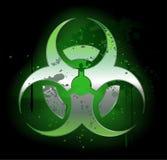 Biohazard  symbol on a dark background Royalty Free Stock Photo