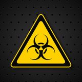 Biohazard symbol on dark background Stock Image