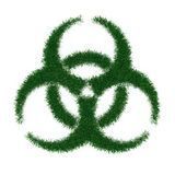 Biohazard Symbol From Grass Stock Image