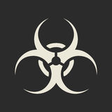 Biohazard symbol icon. Vector illustration Royalty Free Stock Photo