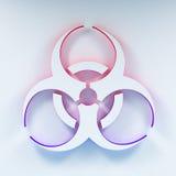 Biohazard symbol illustration. Three-dimentional Biohazard symbol. Biological danger symbol. 3D illustration Stock Photography