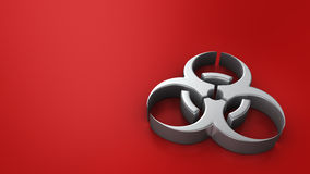 Biohazard symbol on red Royalty Free Stock Photo