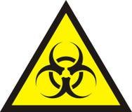 Biohazard symbol sign of biological threat alert Stock Photography