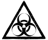 Biohazard Symbol Sign Vector Drawing Stock Image