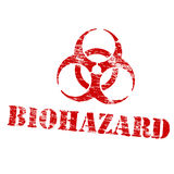 Biohazard Symbol Stamp Royalty Free Stock Photos