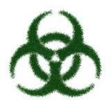 Biohazard Symbol vom Gras Stockbild