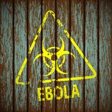 Biohazard symbol on a wooden wall Stock Photography