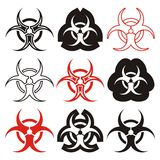 Biohazard symbols Royalty Free Stock Photo