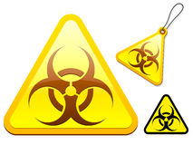 Biohazard tag/icon collection Stock Photo