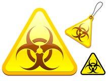 Biohazard tag/icon collection Stock Photo