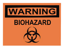 Biohazard Warning Sign Stock Images