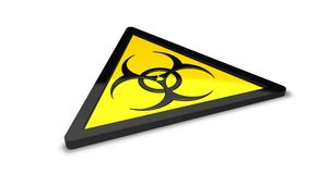 Biohazard warning sign Stock Photos