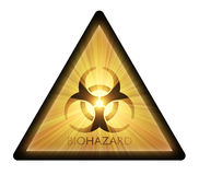 Biohazard warning sign light flare Stock Image