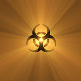 Biohazard warning sign light flare Royalty Free Stock Images