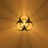 Biohazard warning sign light flare Royalty Free Stock Images