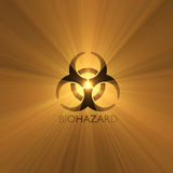 Biohazard warning sign light flare Royalty Free Stock Photo