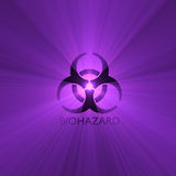 Biohazard warning sign light flare Royalty Free Stock Image
